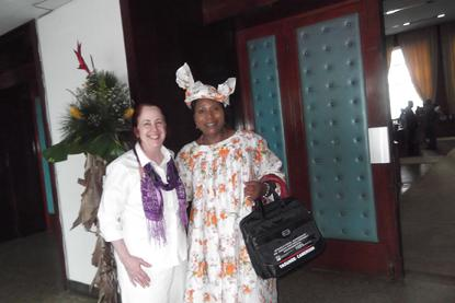 Susan Somers, with Paulette Metang, INPEA Nat Rep. Cameroon